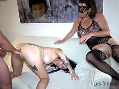 Adeline double fisted, hard sex and fisting party with pervert