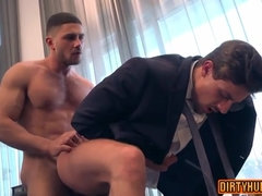 Hotness And Arousing Muscle Gay Assfucking Coitus