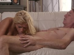 Steve Holmes moistens ass with tongue after rough sex