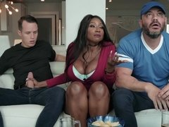 Ebony Diamond Jackson fucking her stepson next to her husband