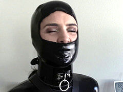 domina turned rubber restrain bondage woman