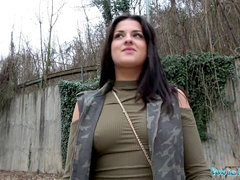 Public Agent Outdoor orgasms for Serbian ultra-cutie