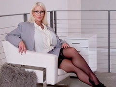 Busty MILF in stockings Alura Jenson cheats with a horny young man