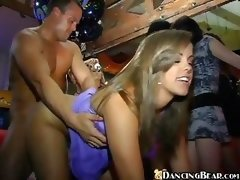 Crazy Group-fuck Action In Club
