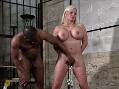 interracial bdsm slave needle busty mela German