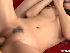Naami Hasegawa enjoys taking in two fat cocks
