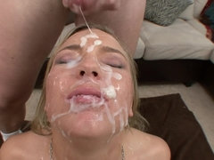 Ally Kay Gangbanged and Covered By Sperm - bukkake cumshots