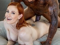 Redhead MILF with long legs Jason Luv fucked by a giant black snake