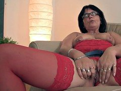 Perverted old couple seduce son's gf12
