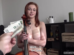 THE POLISH VIOLINIST CANNOT RESIST THE MONEY