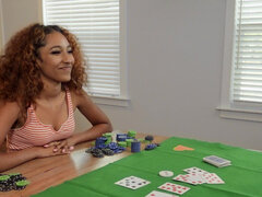 Ebony Brixley Benz bets her ass on a game of poker