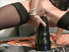 0867_ - trampy cougar Lady-Isabell666 drills herself in the ass huge dildo