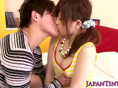 chinese porn industry star Miku Airi gets her hooters jizzed on