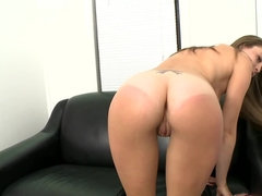 Lovely brunette is feeling highly enthusiastic about this sex audition