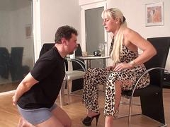 Female domination Women slap slaves
