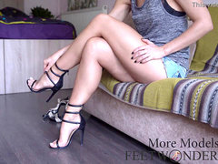 showing my killer long legs and feet