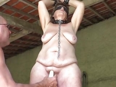 Grown-up Slave Masturbated