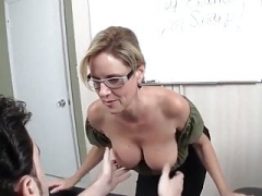 Teacher handjob