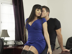 Office seduction from a Latina milf ends in hot sex