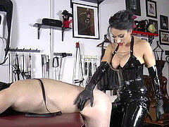 mistress tangent had a toy time with sub