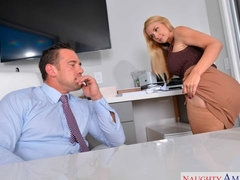Sensual blonde with big boobs Sarah Vandella fucks for money