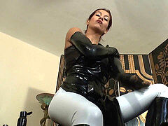 ULTRA SQUEAKY latex GLOVES JOI