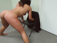 Office fucking with flexible black girl Teanna Trump