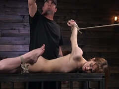 Helpless redhead nicely dominated by a mysterious master