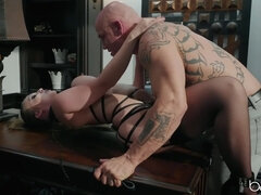 Ceo gets ousted by huge-titted sadism & masochism bunny lena paul