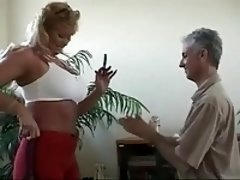 Hot Tall Amazon Stogie Smoking Cougar