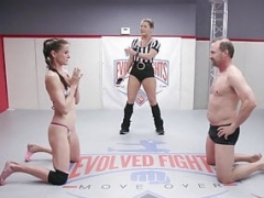 Sofie Marie undressed wrestling turns rough for a hard making love