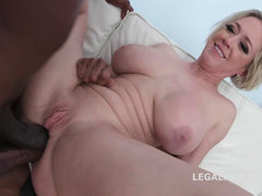 Dee's Interracial 3Some - rough MILF anal scene