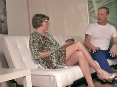 German grandmother gets excited at massage and fucks