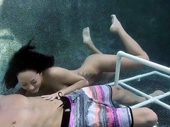 Underwater Fun With Hot Brunette