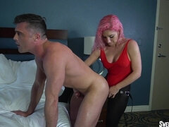 Get Used to My Strapon, Hubby  - Strapon Anal Sex