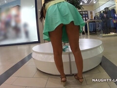 Exhibitionist Lada - Shopping, flashing and upskirting in Public store