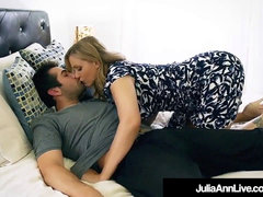Step mom cougar Julia Ann spunked On Face By Step Son!