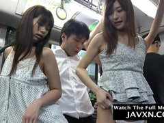 Hotness Japanese Babes On The Bus - asian