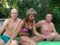 Studen swingers 3. Full film. Why not share your wife with your friends.