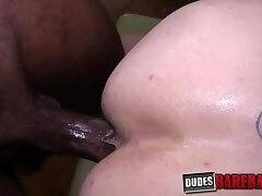BBC clad Micah sucked off before breeding inked cheeks