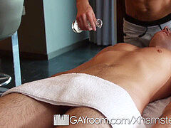 GayRoom rubdown turns into hot drill with Casey Everett