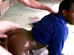 Interracial homo butt fucked