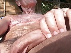 Nudist grandpa 8 (self facial)