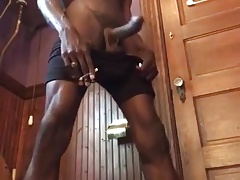 He is black, he is tall, he smokes and has huge cock
