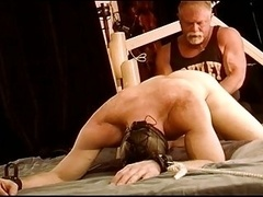 Pounding CBT virgin hunk balls with fist