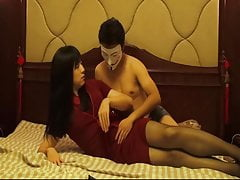 Crossdresser Caroline make out with masked man
