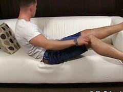 Sucking on a hot jock's yummy toes