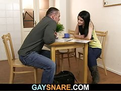 Snared man gay first time experience