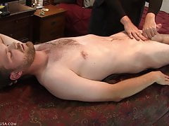 Direct prostate stimulation forced the precum from Loras' co
