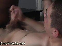 Black facializes twink white
